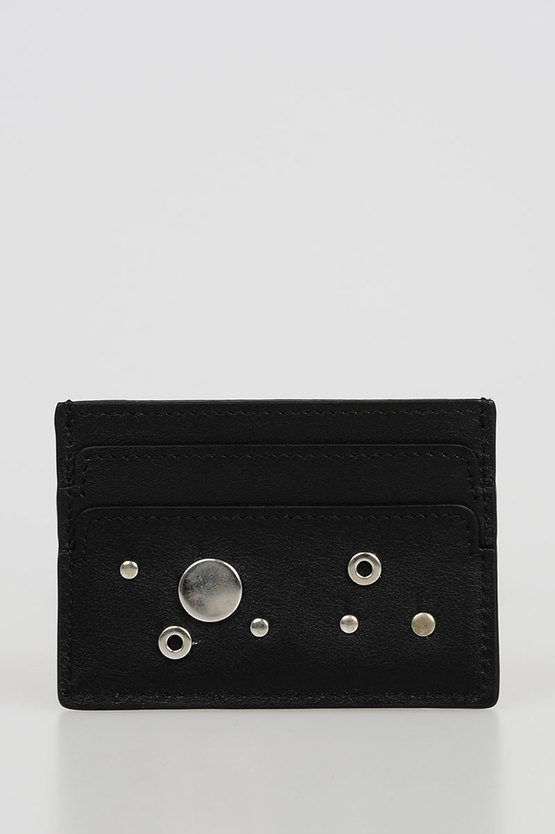 Leather Card Holder with Stud