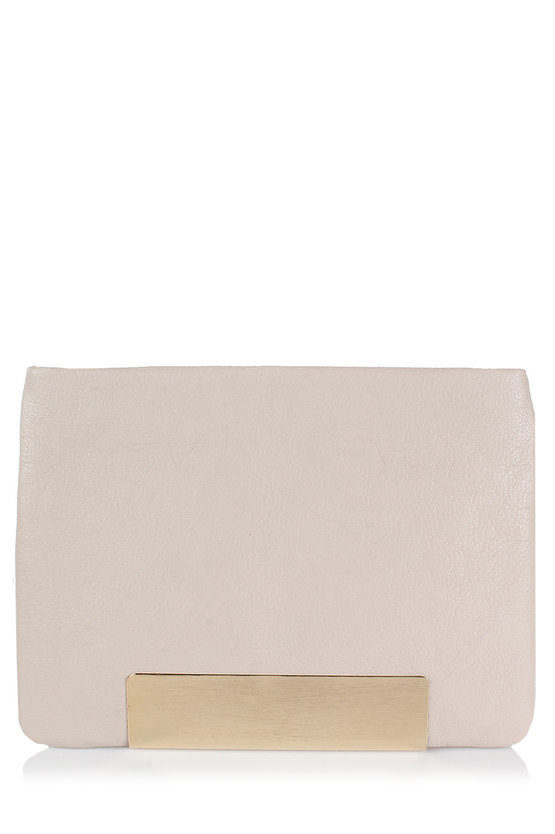 "Leather ""Carrie"" Clutch Bag"