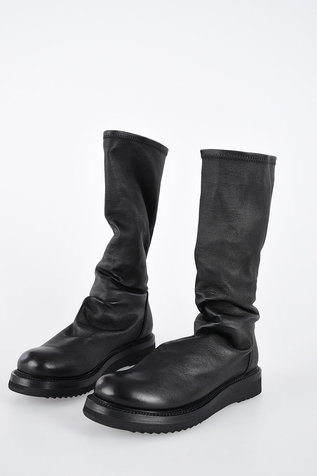 Rick Owens Leather CREEPER SOCK Boots