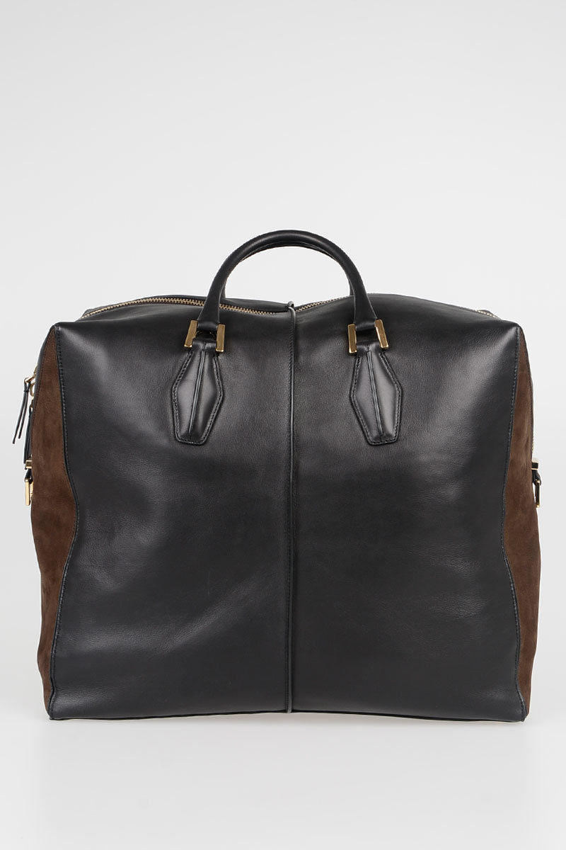 Leather D Cube Weekend Bag