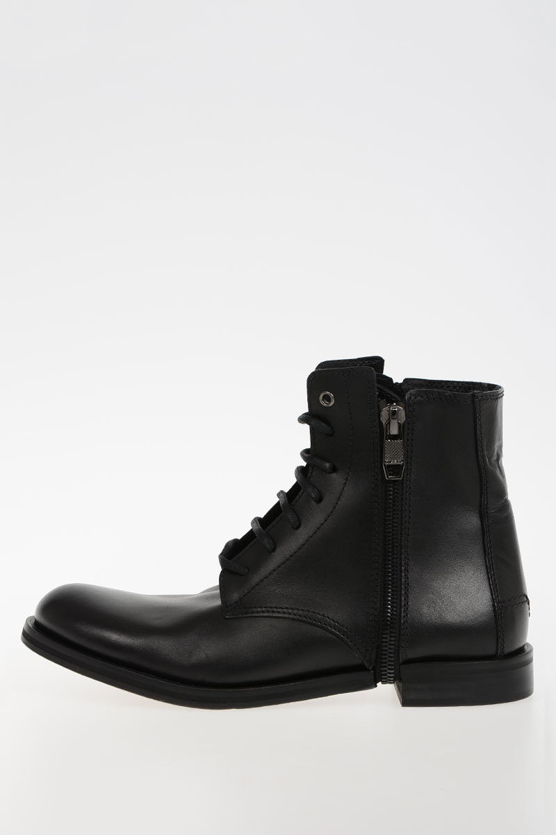 7ed4d169 Diesel Leather D-ZIPPHIM BOOT Ankle Boots men - Glamood Outlet