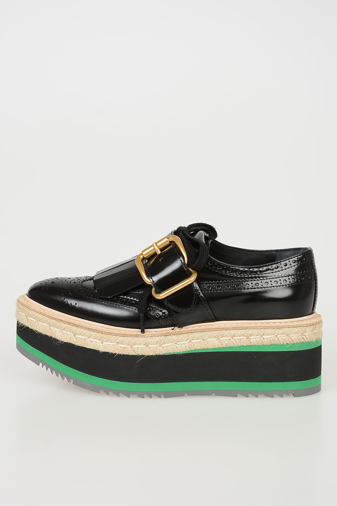 d1ab071997c Prada Leather Derby Shoes with Platform 6 cm women - Glamood Outlet