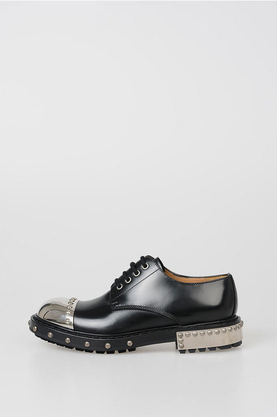 Leather Derby with Stud