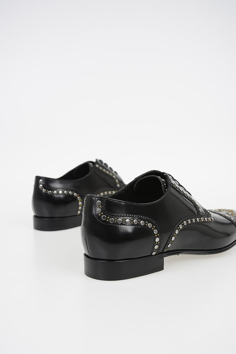 9df850e565e9 Dolce   Gabbana Leather Derby with Stud men - Glamood Outlet
