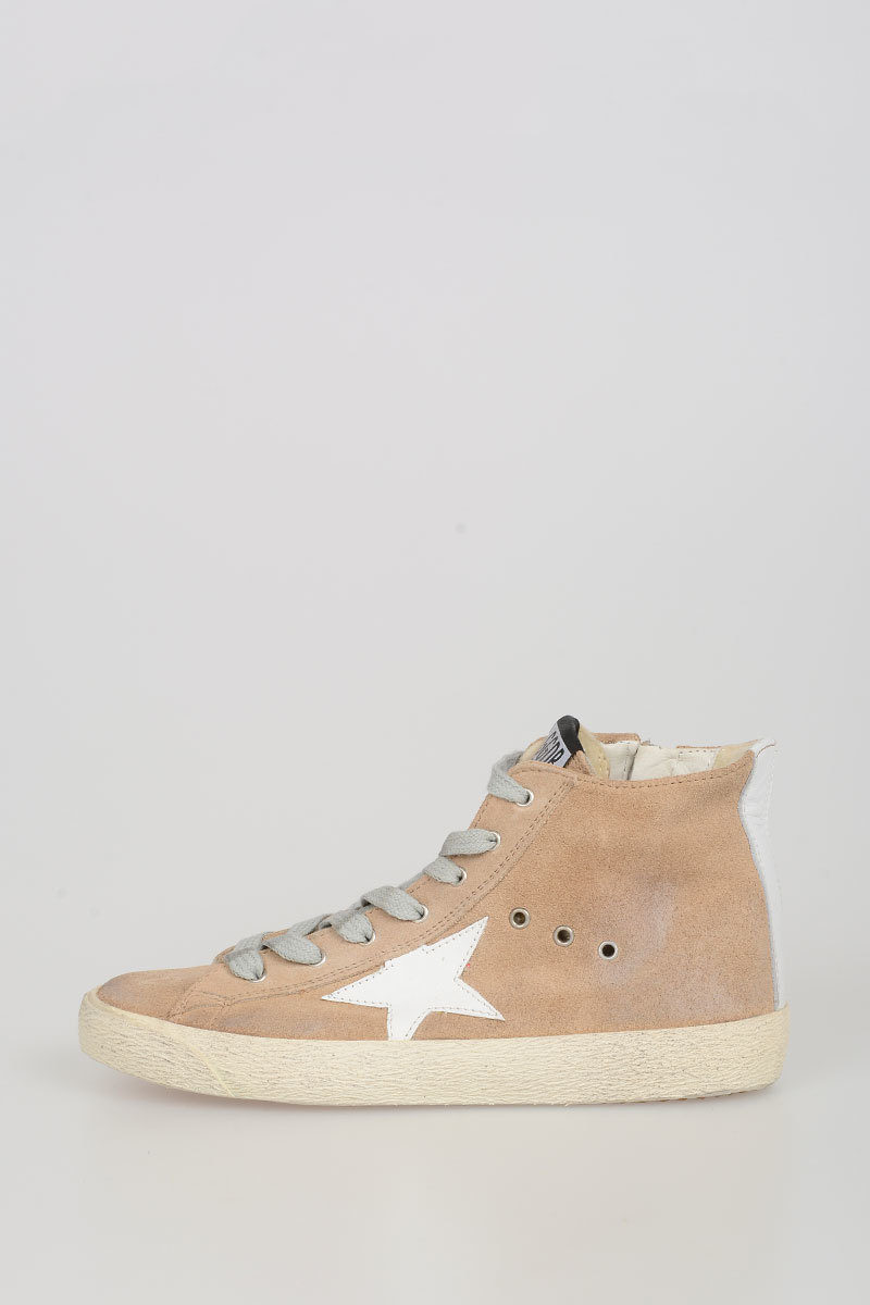 447e215c0 Golden Goose Kids Leather FRANCY Sneakers - Glamood Outlet