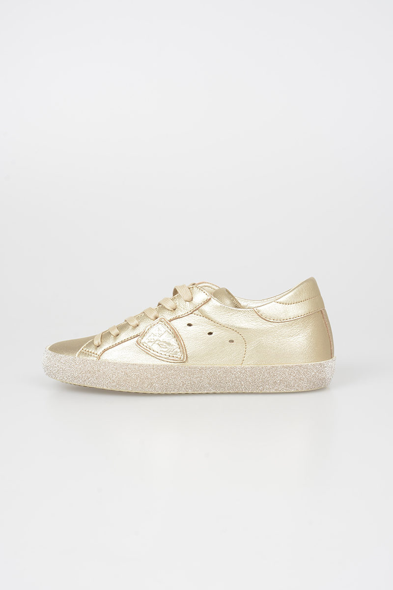 Philippe Model Paris Leather Glitter Sneakers women - Glamood Outlet 5260f321acb
