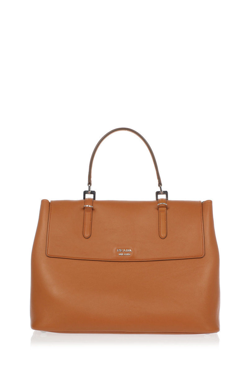 Prada Leather Hand bag with Removable Strap women ...