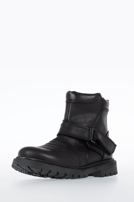 Leather HB 10 BUCKLE CH Biker HALF BOOTS