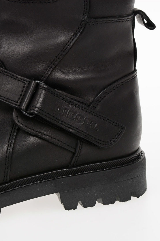 Leather HB 10 BUCKLE YO Boots