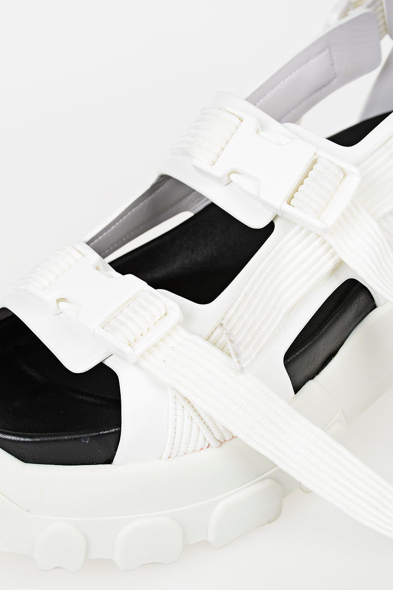 417098042337 Rick Owens Leather HIKING SPARTAN Sandal women - Glamood Outlet