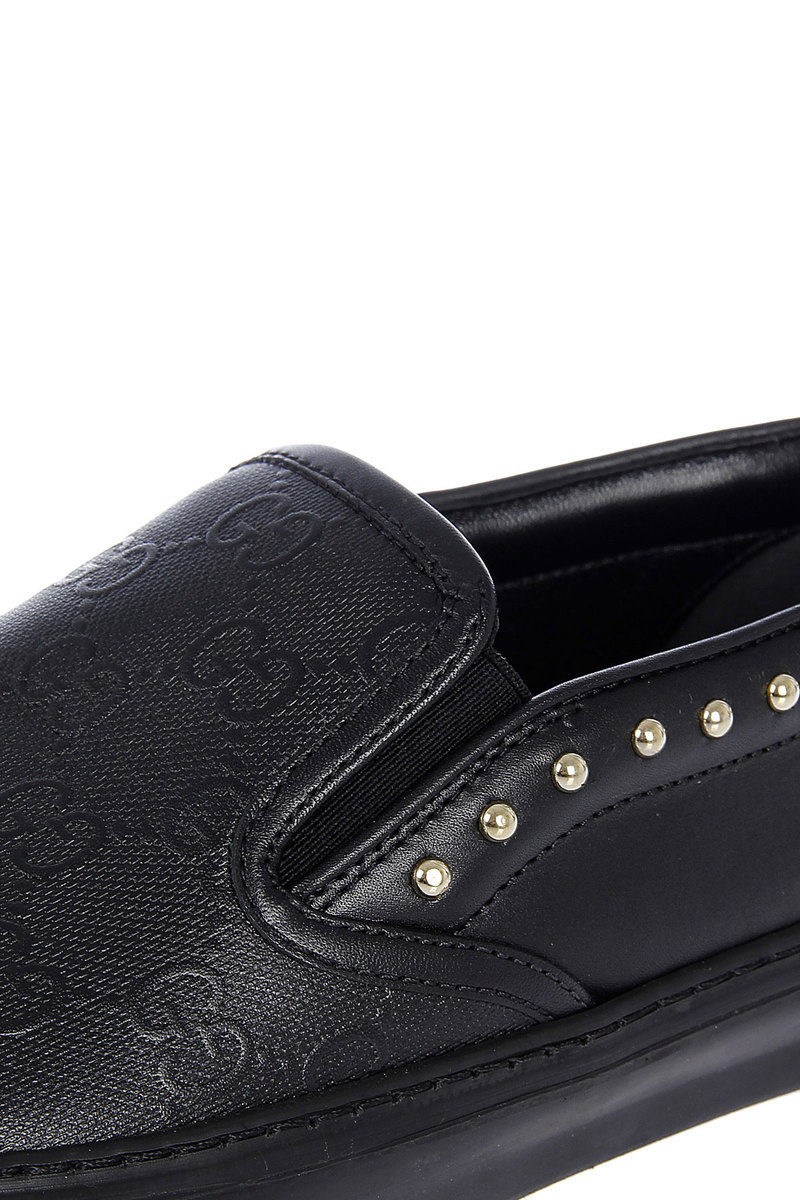 9c63d268d821 Gucci Leather HILARY LUX GG Slip On Sneaker women - Glamood Outlet