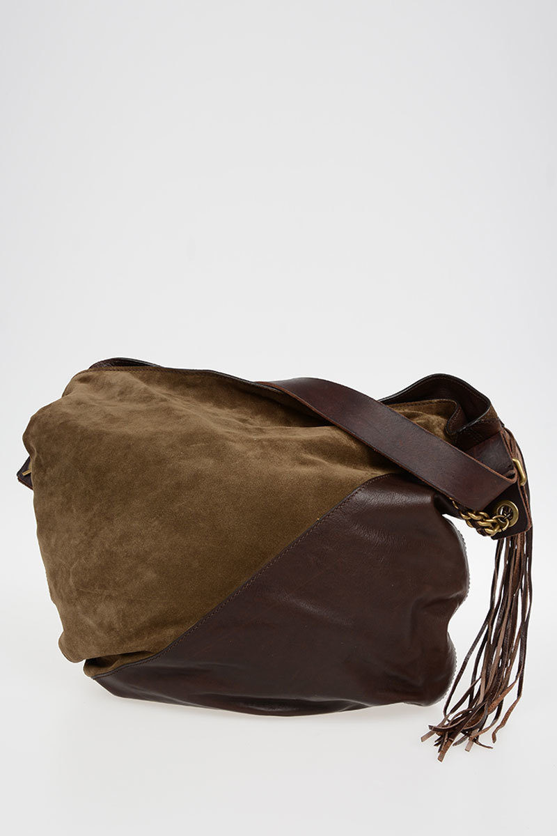 Dsquared2 Leather Hobo Bag with Fringes women - Glamood Outlet bc8b5e36ae887