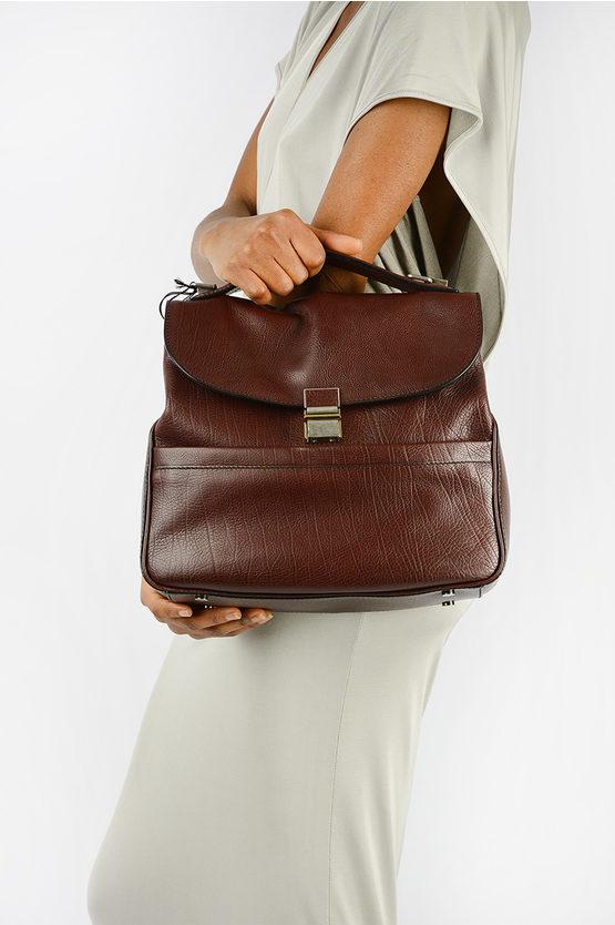 Leather KENT Top Handle Bag