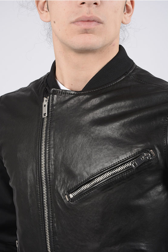 Leather L-TOMBSTONE Bomber Jacket