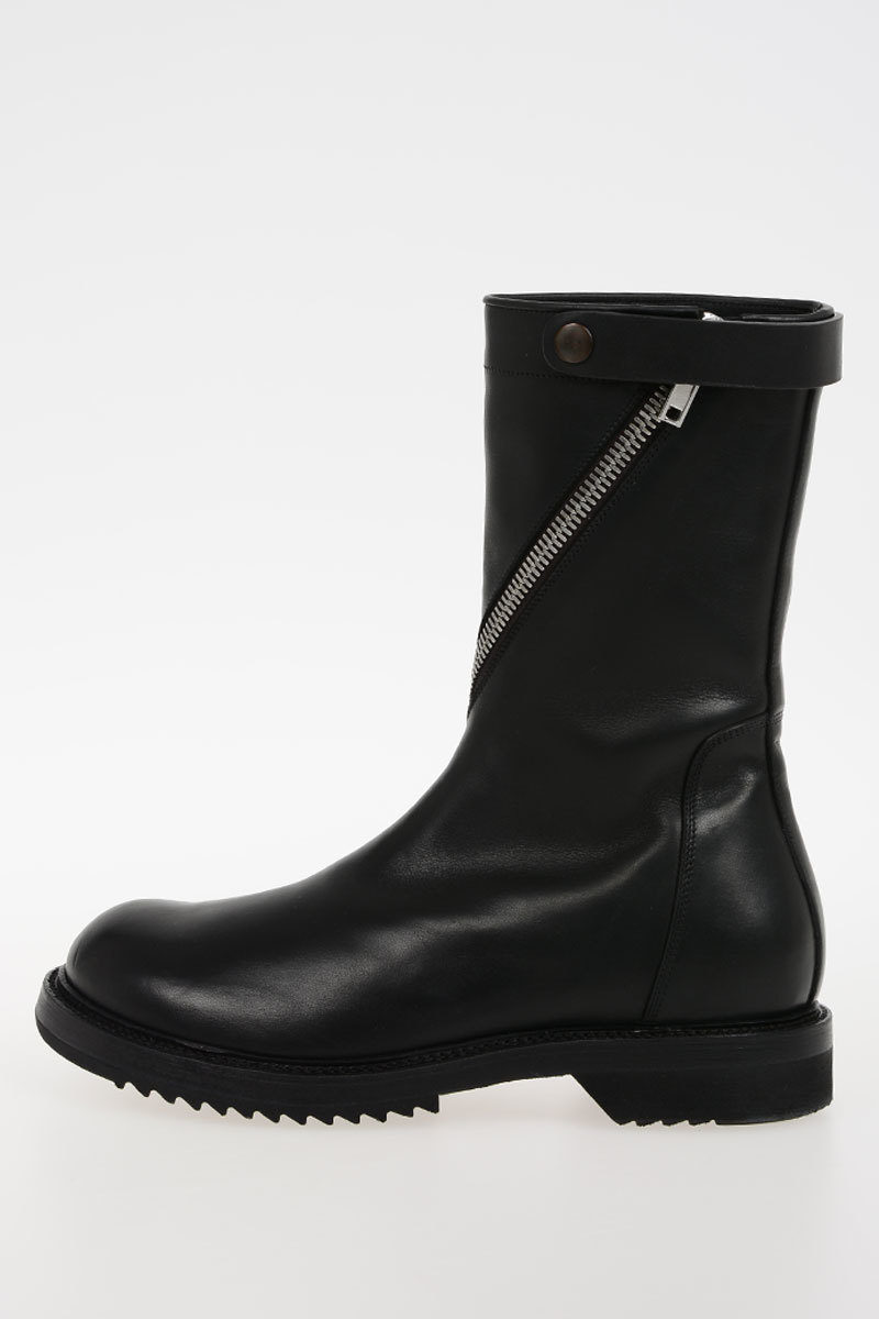 Pull On Booties BERGER Leather Spring/summer Rick Owens