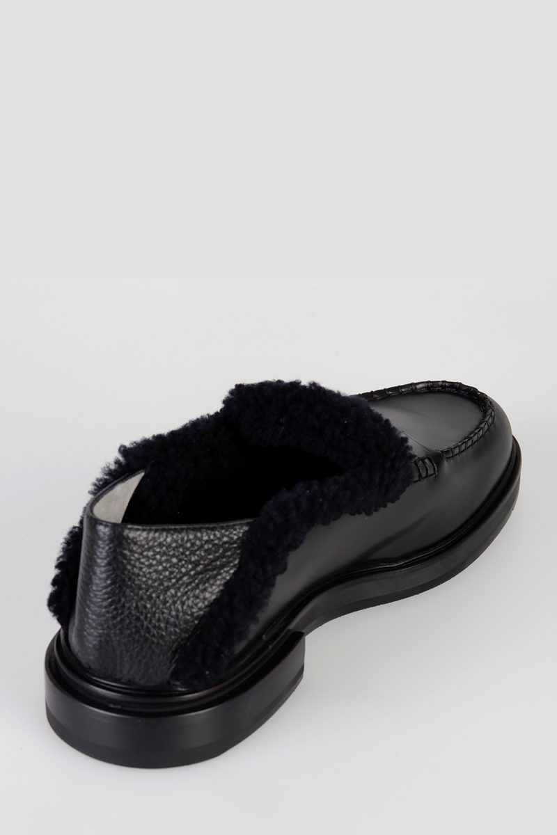 0f40c1c8560 Fendi Leather Loafers with Lamb Fur Lining men - Glamood Outlet