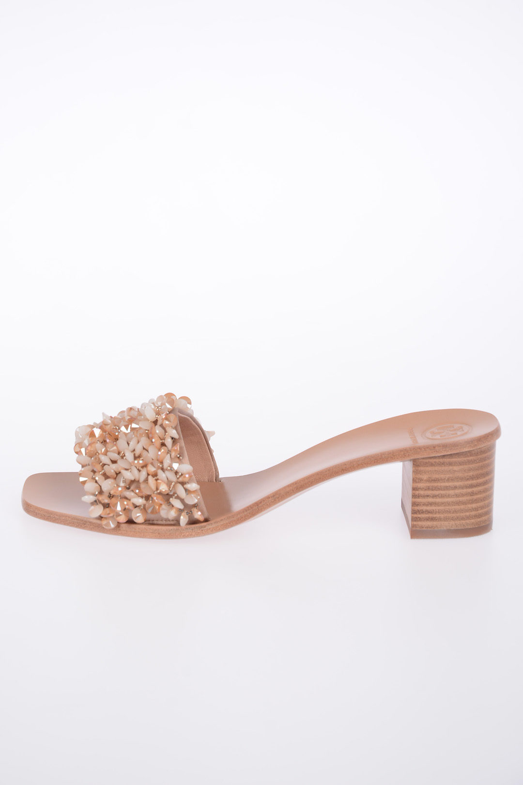 a2e855aa2 Tory Burch Leather LOGAN Mules with Jewel Applications women ...