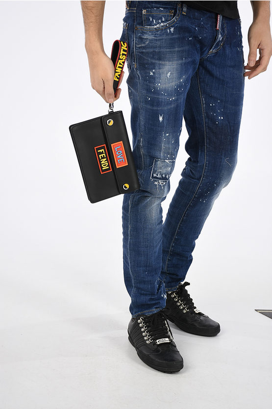 Leather LOVE Clutch