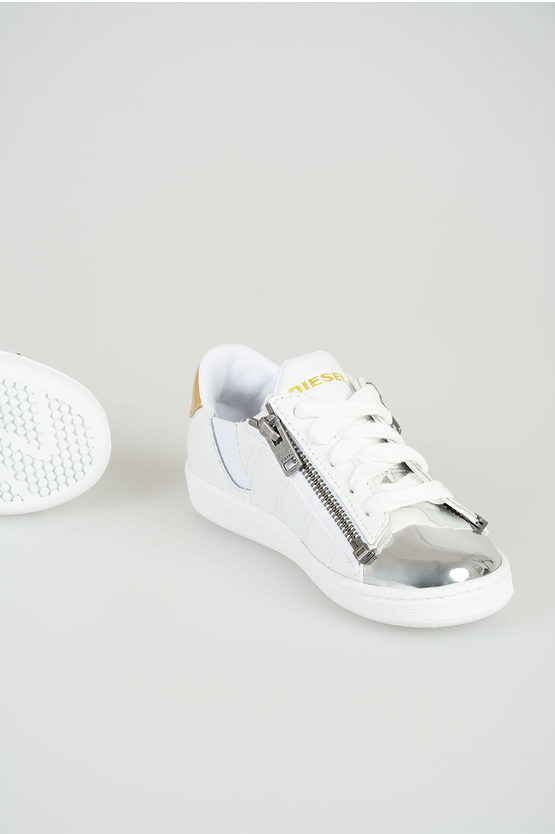 Leather LOW 40 FULL COLOR ZIP Sneakers