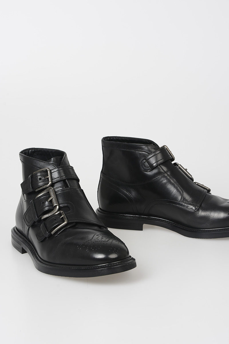 Leather Gabbana Glamood Ankle Michelangelo Boots Men Dolce Outlet amp; TWqn5TZ