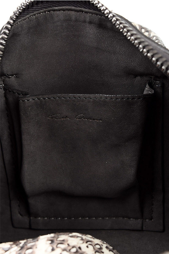 Leather MICRO BAULETTO Bag NATURAL/BLK