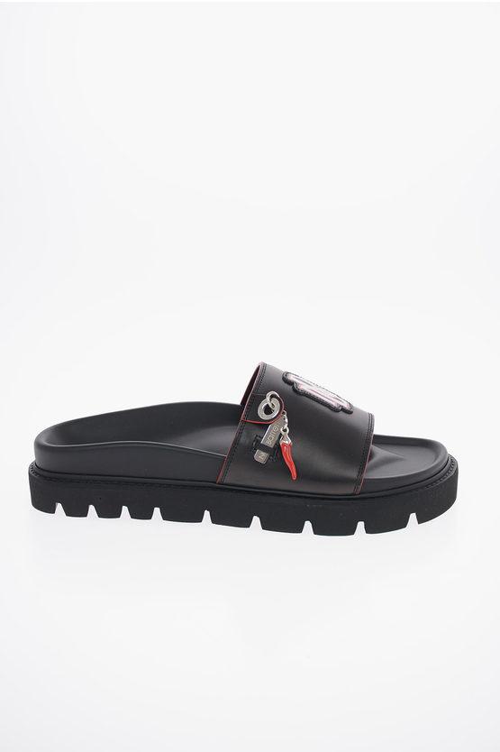 Leather MONOGRAM Slides Sandals
