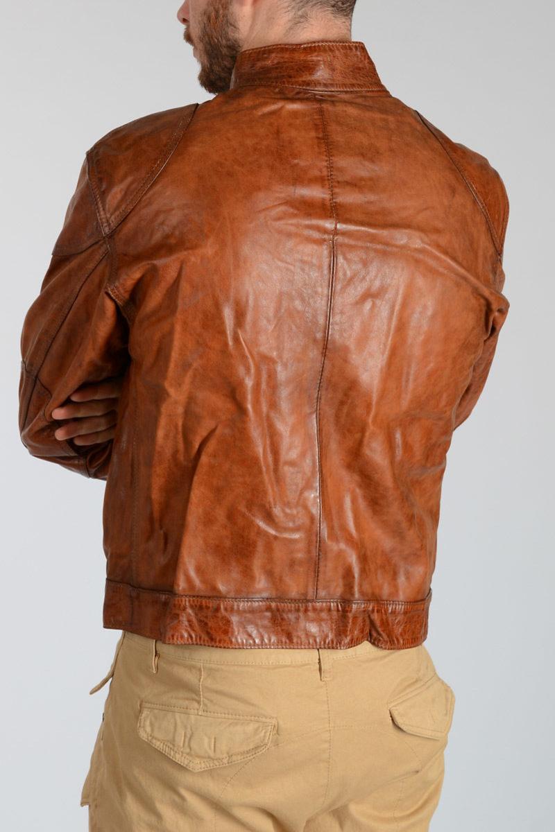 3fdfe9bda19 Belstaff Leather NEW COUGAR BLOUSON Jacket men - Glamood Outlet