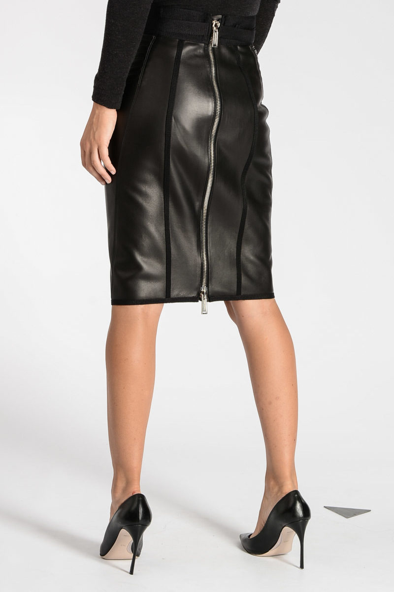 dsquared2 leather pencil skirt women