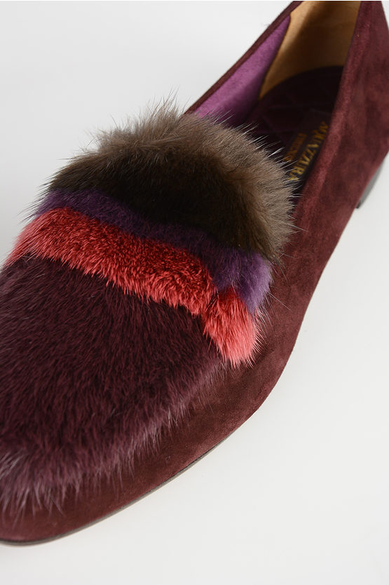 Leather Real Fur Loafer