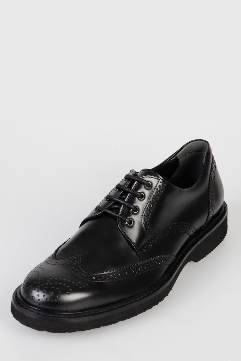 Leather ROUTE DERBY Brogue Lace-Up Shoes