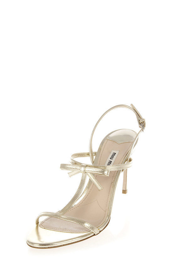 Leather Sandal with Ribbon Heel 8.5 cm