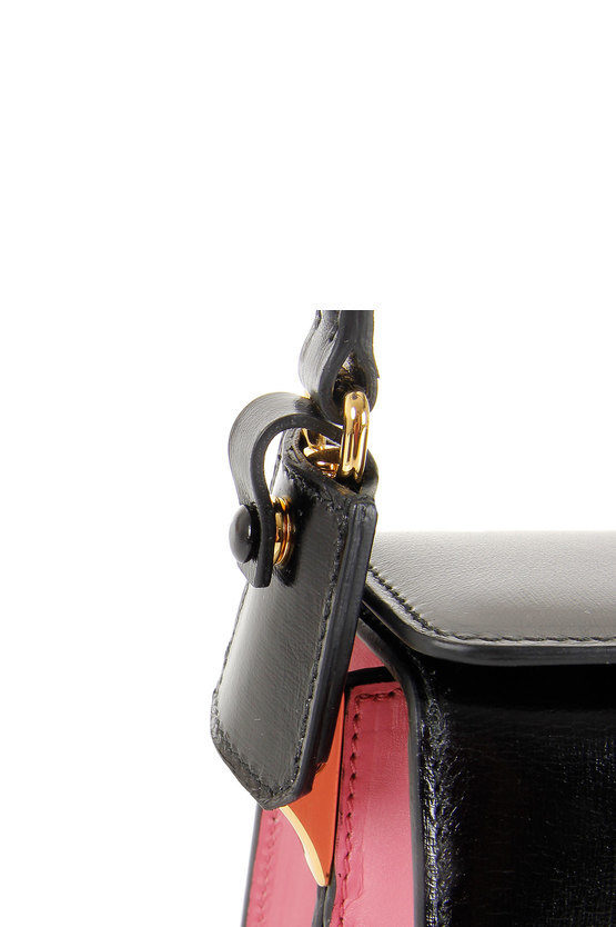 Leather shopping hand bag