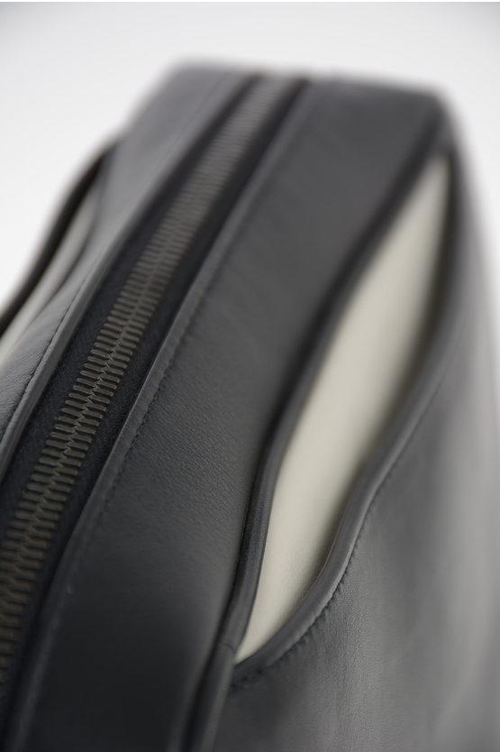 Leather Shoulder Briefcase with Magnet Pocket Closure