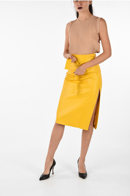 Leather Skirt with Split