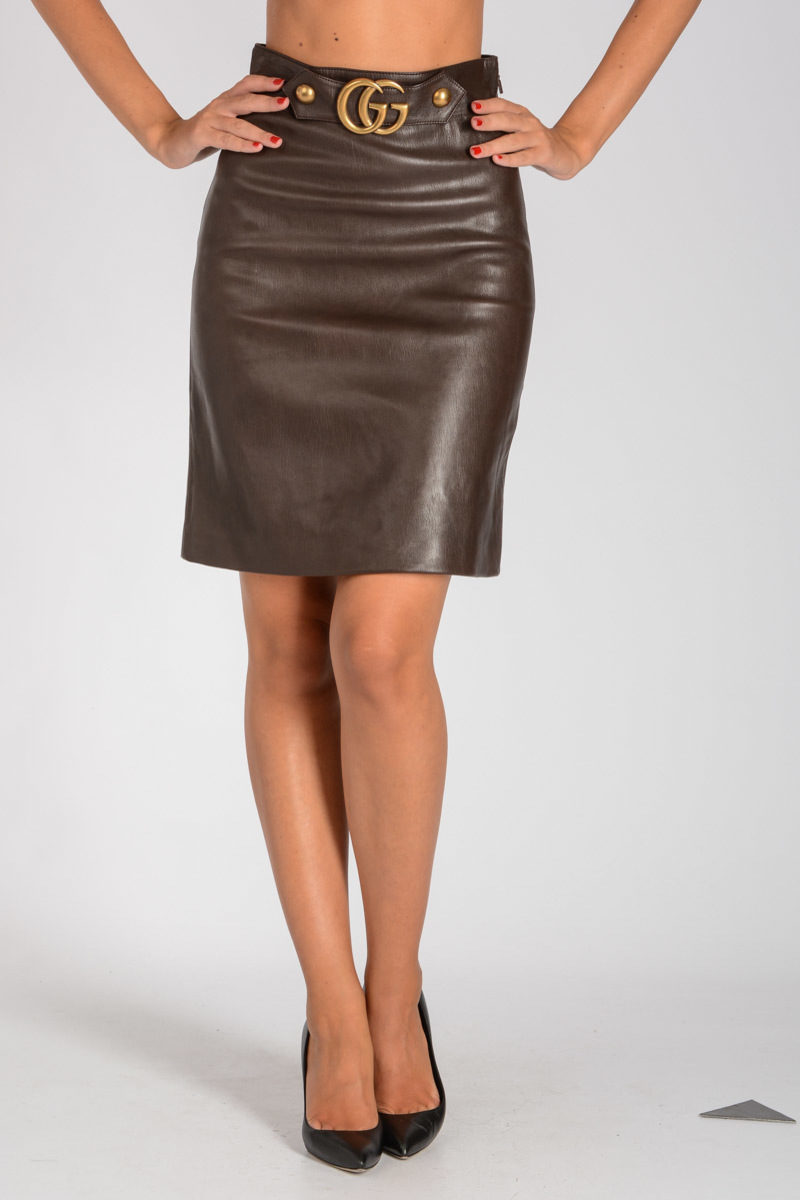 4ea5cdd4f2d9 Gucci Leather Skirt women - Glamood Outlet