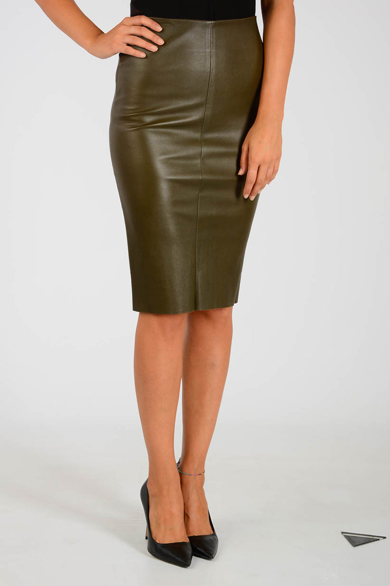 097b4044abed DROMe Leather Skirt women - Glamood Outlet