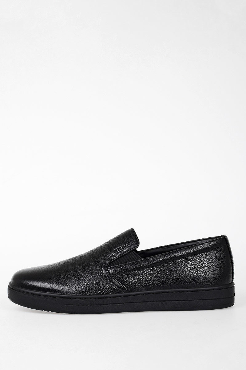 81a05ef8a8483 Prada Leather Slip On Sneakers men - Glamood Outlet