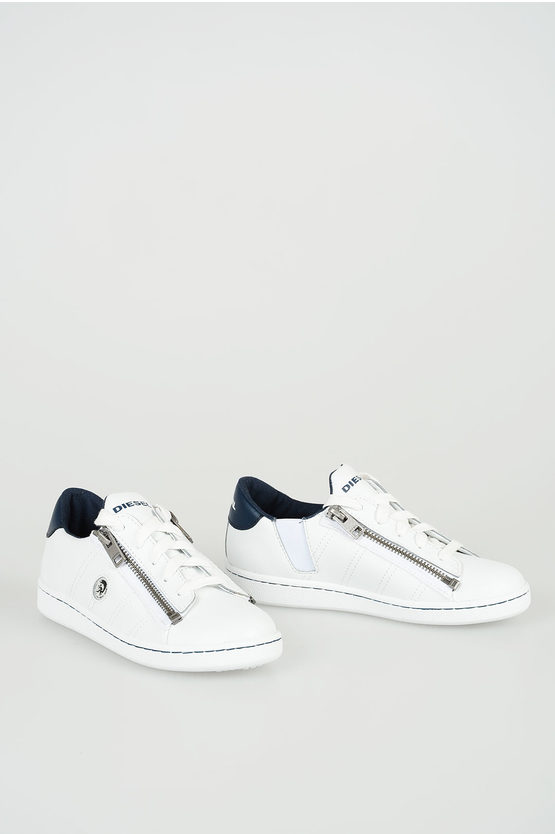 "Leather ""SNEAKERS"" 40 FULL COLOR ZIP Sneakers"