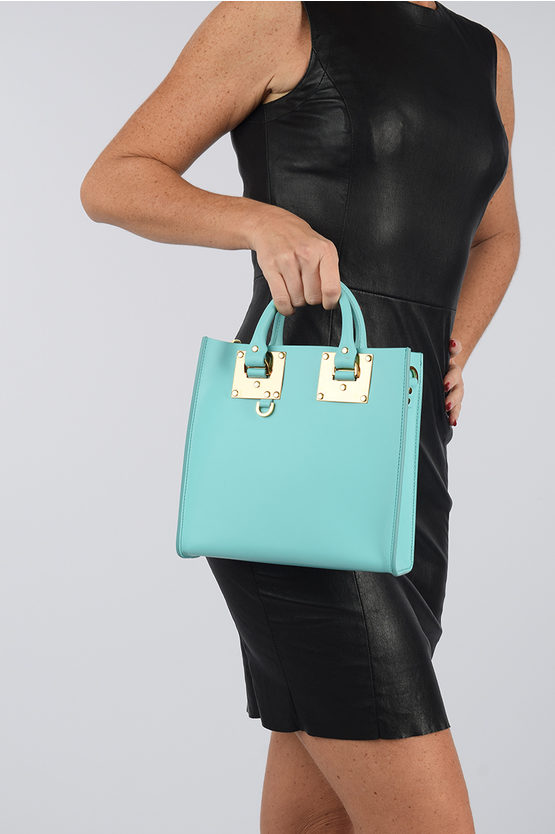 Leather SQUARE ALBION Shopping Bag