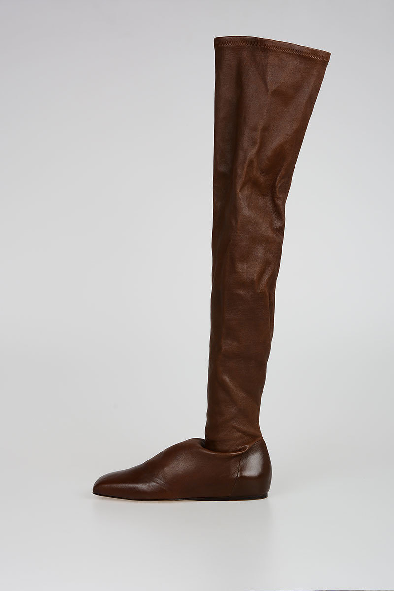 Leather SQUARE TOE THIGH HIGH STRETCH BALLERINAS Boots Spring/summer Rick Owens Get To Buy Clearance Best Seller Cheap For Nice Buy Cheap Cheapest Price Free Shipping Classic F3Zsj6eD