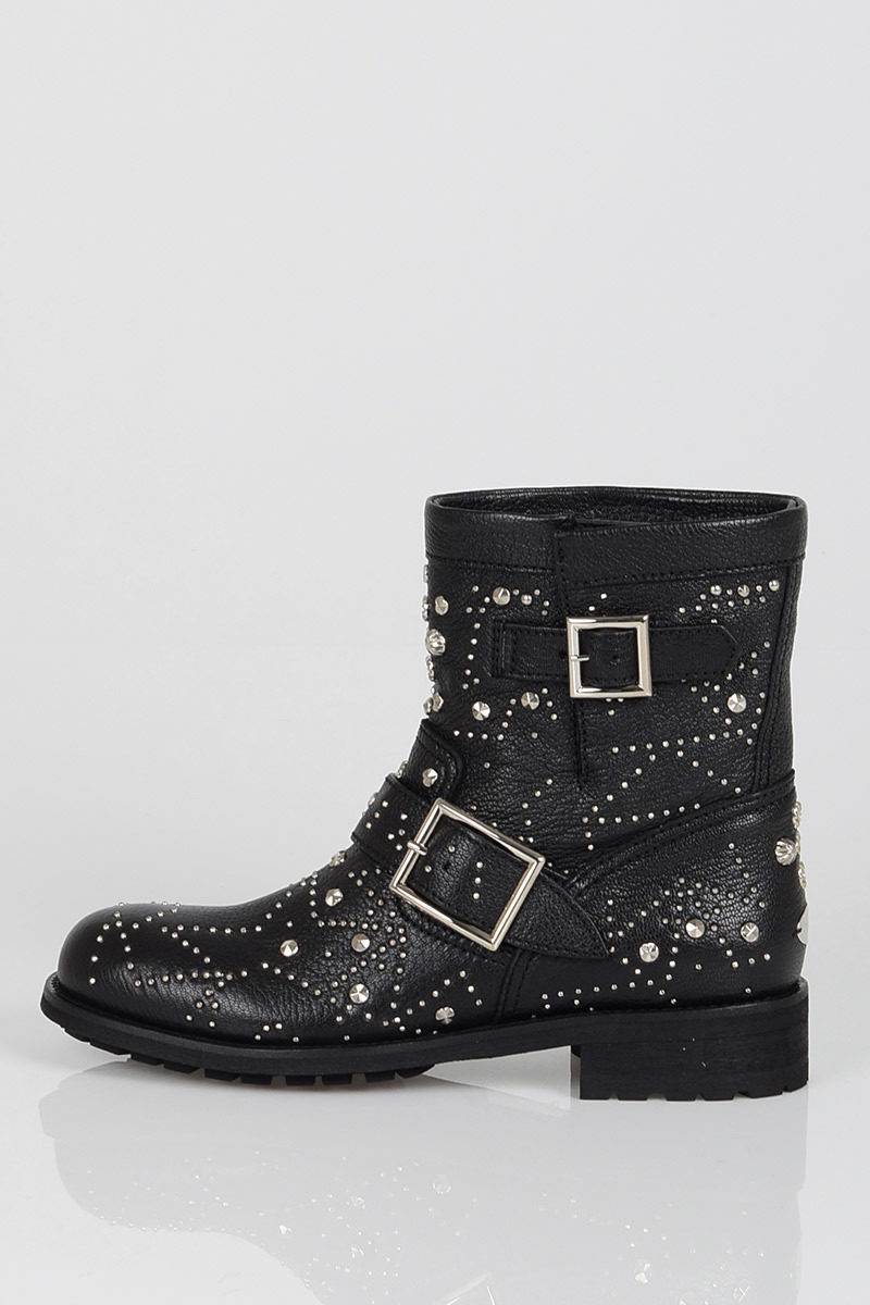 Jimmy Choo Leather Studded Boots women