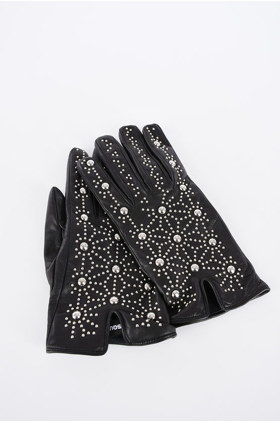 Leather Studded Gloves