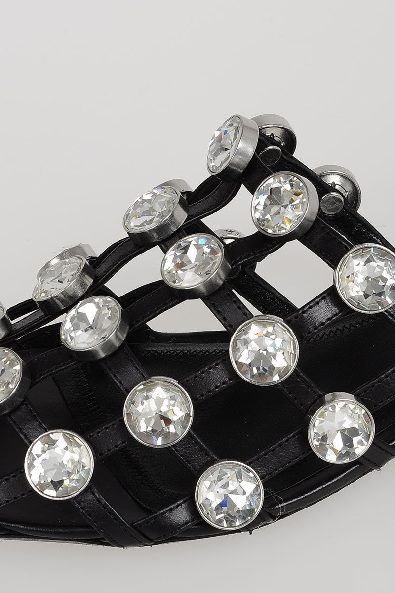 dc1bc44e37039 Alexander Wang Leather Studded JEWELED AMELIA Sandals women ...