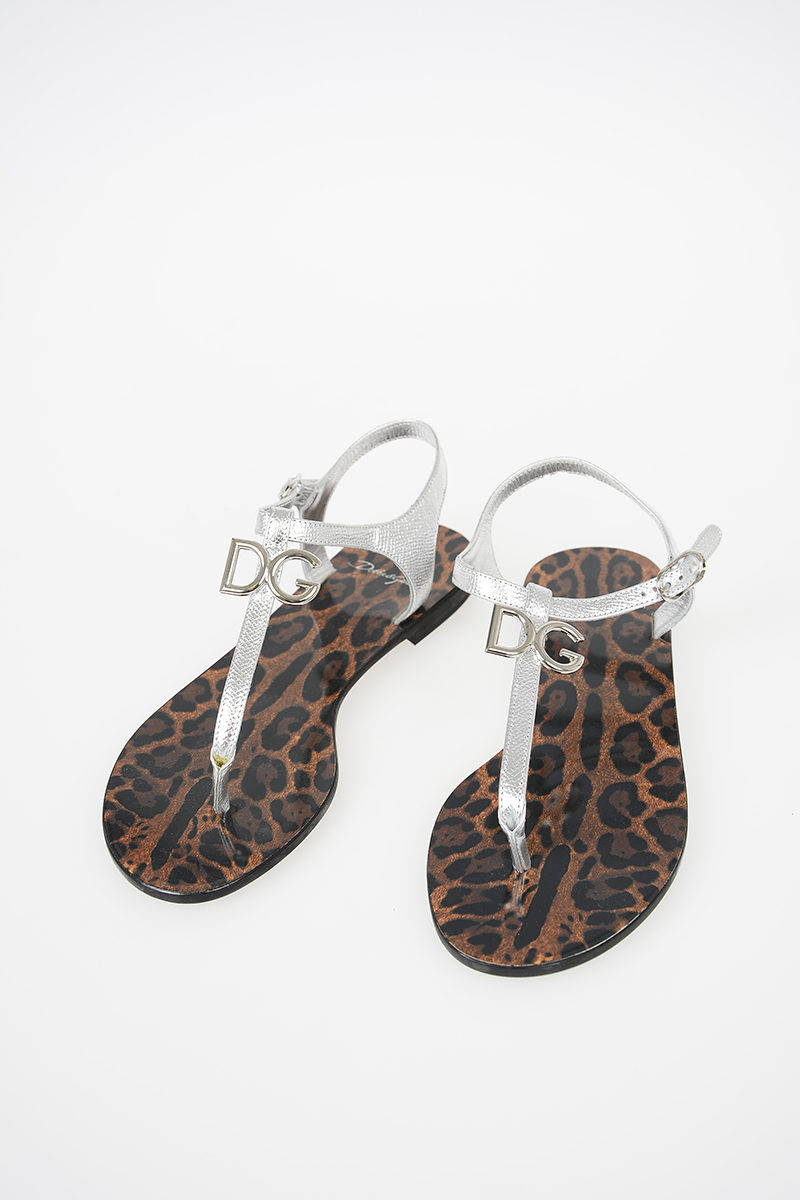 154ca22b1db Dolce   Gabbana Leather Thong Sandals women - Glamood Outlet
