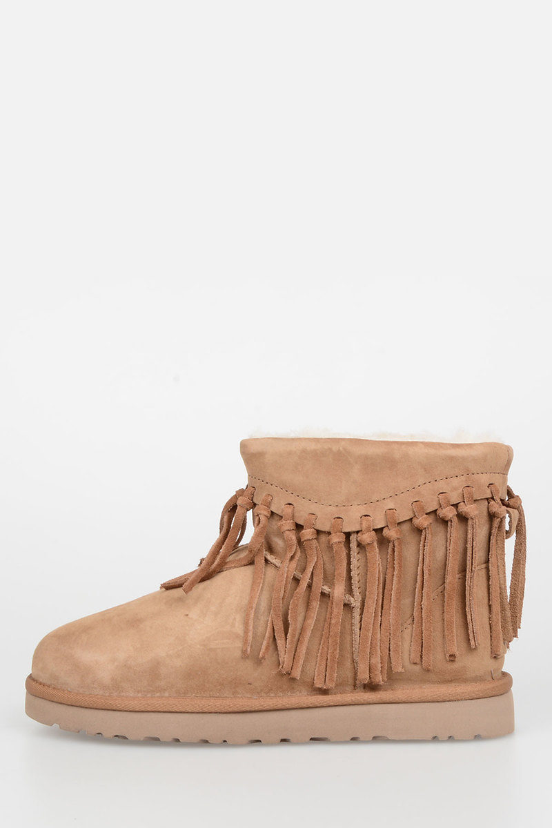9d9cd8d0a8c Leather WYNONA FRINGE Boots