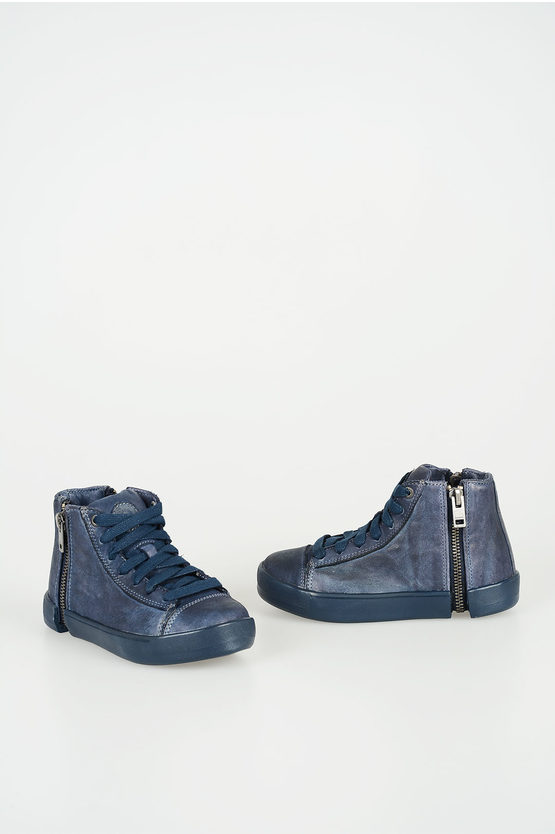 """Leather """"ZIP-ROUND"""" 24 NETISH Sneakers"""
