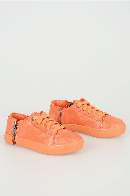 Leather ZIP-ROUND NETISH Sneakers