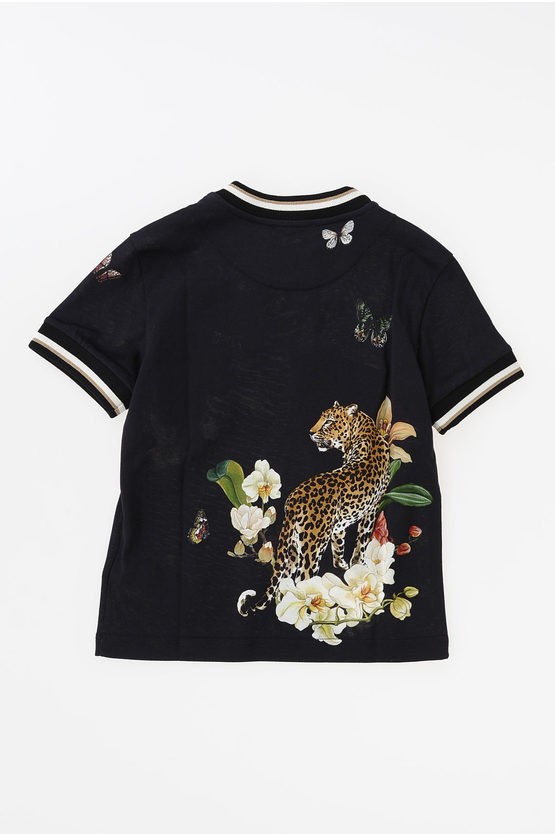 Leopard and Flowers T-shirt