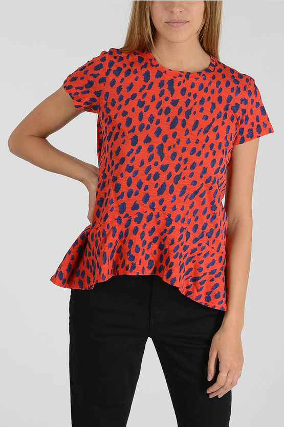 Leopard Skin Flared T-shirt