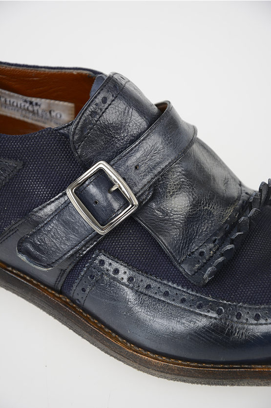 Limited Edition Leather Fabric Monk Strap